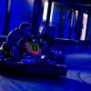 Go kart racers in action