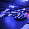 Indoor go karting in a modern arena