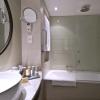 Luxury hotel bathroom with shower