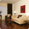 Living room in Bucharest apartment hotel