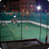 Outdoor football in the evening