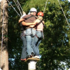 Cooperation can be handy! Stag do in high ropes park.