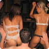 Sexy lesbian striptease brightens up your stag do!