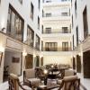 Lobby in four star hotel in Bucharest