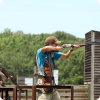 Clay shooting by professional