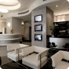 hotel reception and hotel lobby bar