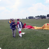Successful parachute jump