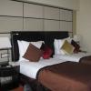 Twin bedroom in downtown Bucharest hotel