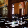 Historic building of traditional romanian restaurant in Bucharest