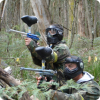 Attack on enemy in forest