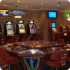 Casino hall with game tables