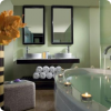 Luxury bathroom in five star hotel