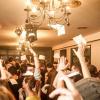 Dancing people in Romanian club
